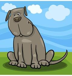 cute big gray dog cartoon vector image vector image
