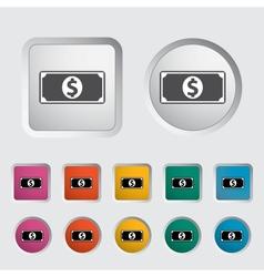 Dollar icon 2 vector image