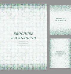 Geometric square pixel pattern page template set vector image vector image