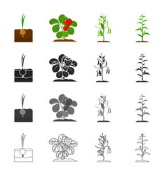 plotfarm nature and other web icon in cartoon vector image vector image
