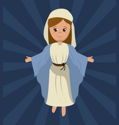 virgin mary holy religious image vector image