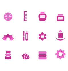 wellness and spa icons vector image
