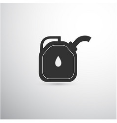 black canister with handle vector image