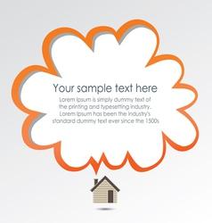 Creative house vector image