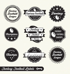 Fantasy Football Labels vector image