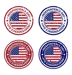 Independence day rubber stamps vector image vector image