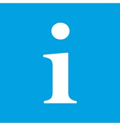 Info white icon vector image
