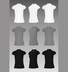 women polo t shirt vector image