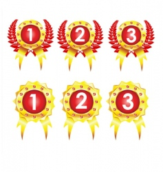 best golden badges vector image vector image