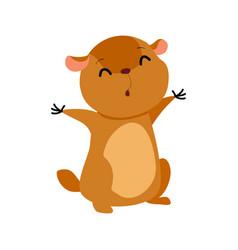 Cartoon groundhog vector