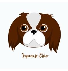 dog Japanese chin vector image vector image
