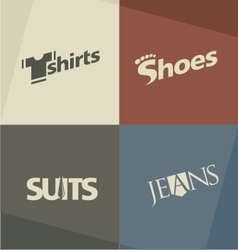 Fashion logo design concepts vector image vector image