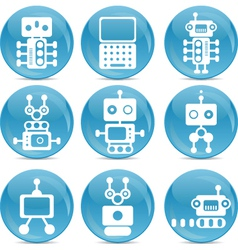 robot web icons vector image vector image