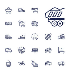 22 truck icons vector