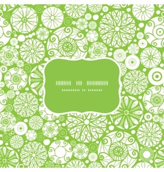 abstract green and white circles frame seamless vector image vector image