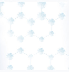 abstract molecules design structure molecule vector image