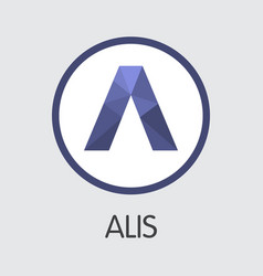 Alis digital currency - symbol vector