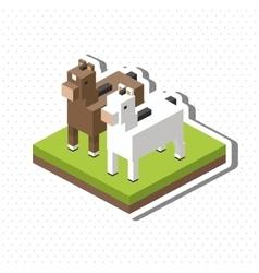 Animal design Isometric icon nature concept vector