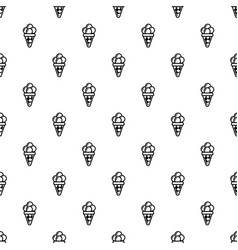 balls of ice cream in cone icon outline style vector image