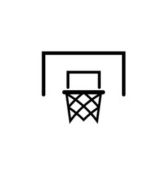 basketball ring icon design template isolated vector image