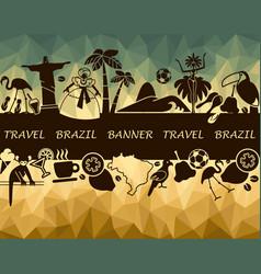 brazilian banner vector image