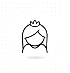 bride icon vector image