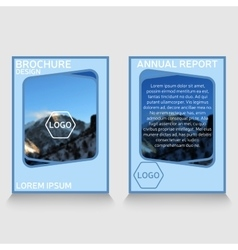 Brochure template annual report sample vector