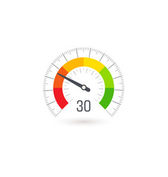 business meter indicator icon with colorful vector image