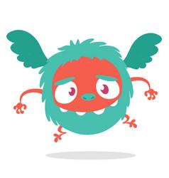 cartoon cute flying monster vector image