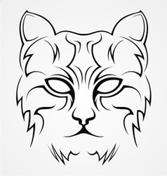 Cat Face Tribal vector image