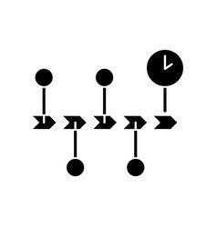 Chronology black glyph icon vector