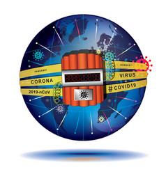 coronavirus 2019 - harbinger end times vector image