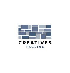 creative stone logo design vector image