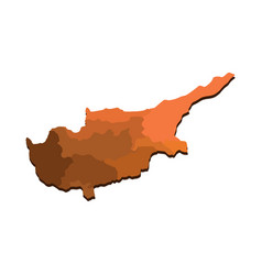 Cyprus map with regions vector
