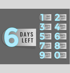 Days left countdown timer label vector