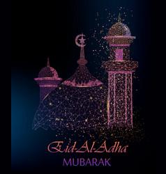 Eid al adha mubarak greeting card vector