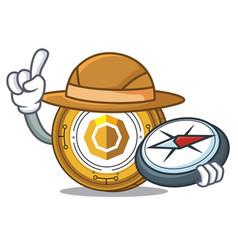Explorer komodo coin mascot cartoon vector