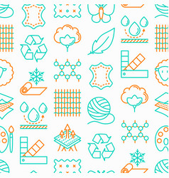Fabric feature seamless pattern vector