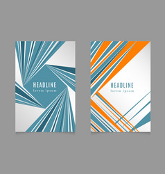 Fast speed lines business brochure flyer design vector