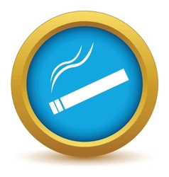 Gold cigarette icon vector image