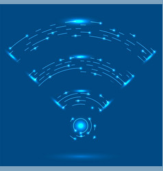 gprs logo radio wave icon wireless network vector image