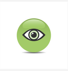 green eye icon on a bubble and white background vector image