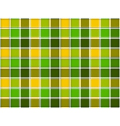 Green yellow spring check seamless pattern vector image