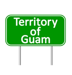 Guam road sign vector image
