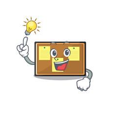 Have an idea toy bulletin board on cartoon vector