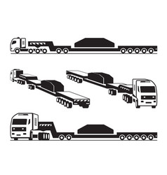 Heavy duty truck transports cargo vector