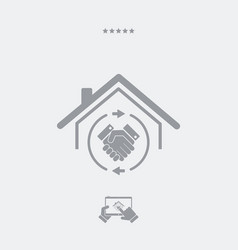 House mutual agreement - real estate- web icon vector