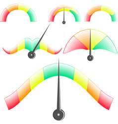 linear and unusual performance indicators vector image