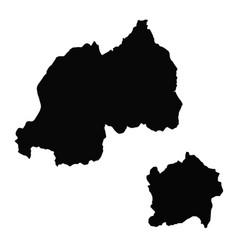 Map rwanda and kigali country and capital vector