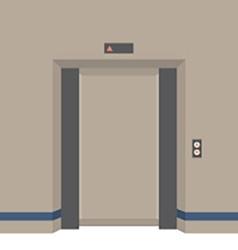 Open Doors Elevator vector